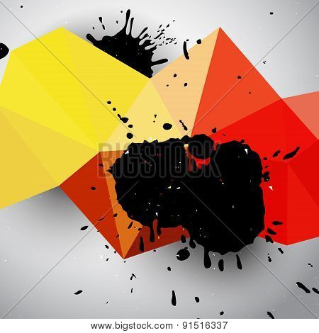 Grunge Colorful Abstract Background