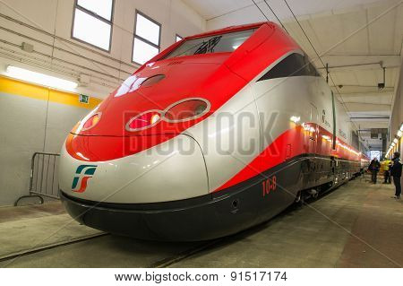 A New Train Is Ready To Exit From The Workshop