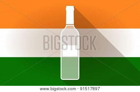 India Flag Icon With A Bottle