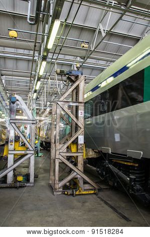 Lifting A Railway Wagon For Maintenance