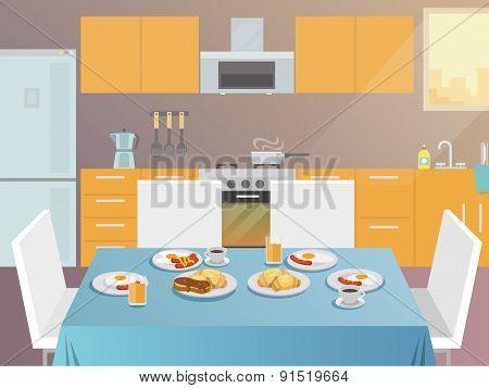 Breakfast Table Flat