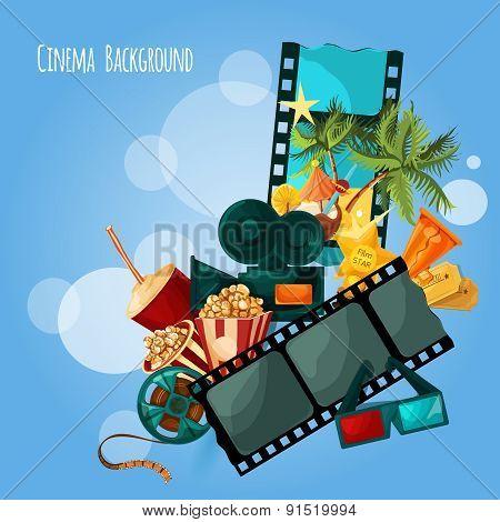 Cinema Background Illustration