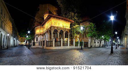 Bucharest Old Center At Night