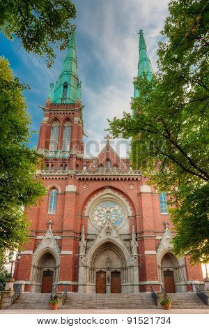 St. Johns Church. Johannes Church -  Famous Landmark In Helsinki
