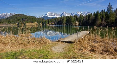 Idyllic Lake Geroldsee - Panorama