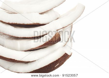 Coconut  Milk  Food Ingredient White Isolated Background
