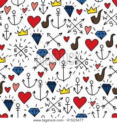 Sea Doodle Background