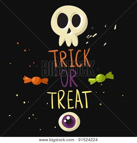Trick Or Treat Postcard