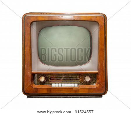 Old Tv, Front View