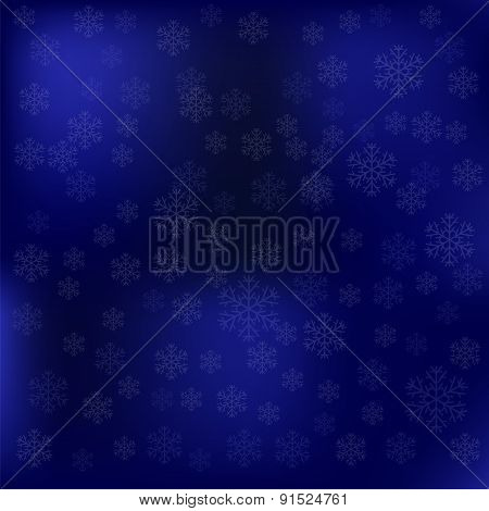 Blue Snow Winter Background