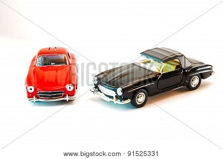 Sport Car Model In Studio Light