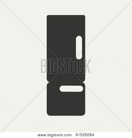 Flat in black and white mobile application refrigerator
