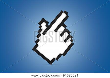 Hand Cursor Icon Standing
