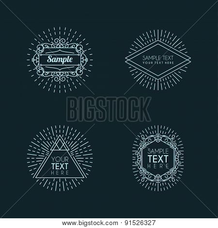 Set Of Hipster Vintage Labels, Logotypes, Insignias, Badges For Your Business