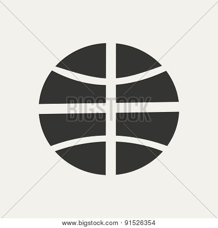 Flat in black and white mobile application basketball