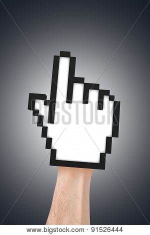 Hand Cursor On Real Human