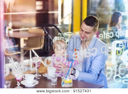 Father with his daughter