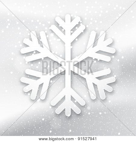 3D Snowflake On A White Background
