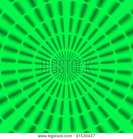 Regular Black And Neon Green Radial Rays Pattern Made Seamless
