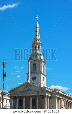 The Church Of St Martin's-in-the-field London Near Trafalgar Square.