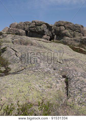 Pink Granite On Mountaintop