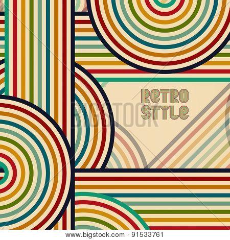 Abstract digital circles retro vector background