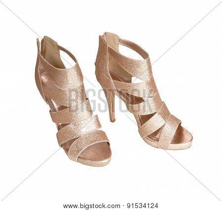 Modern Gold High Heels.