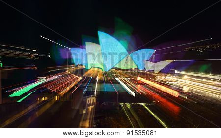 Sydney Opera House Vivid Abstract