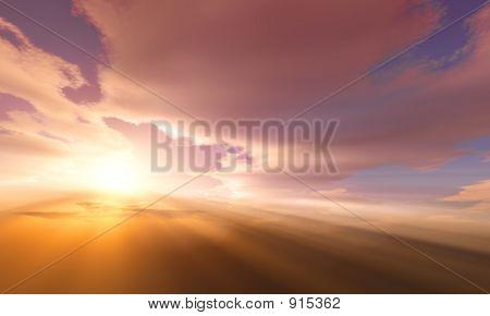 Cielo dramático al atardecer / amanecer