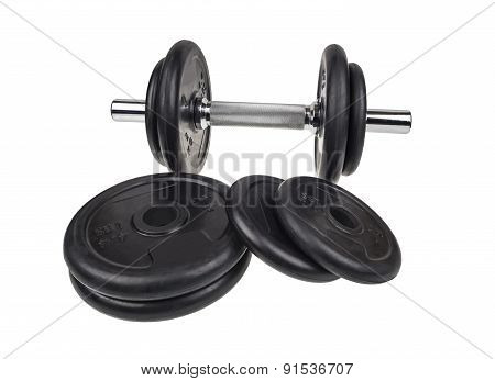 Dumbbells Patterned With Rubberized Disks.
