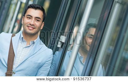 Close Up Portrait Of Young Gorgeous Man With Copyspace, Outdoor - Outside