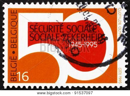 Postage Stamp Belgium 1995 Department Of Social Security