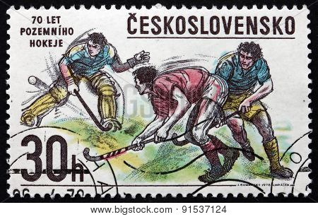 Postage Stamp Czechoslovakia 1978 Bandy Hockey, Winter Sport