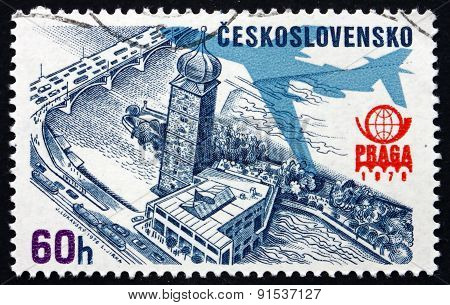 Postage Stamp Czechoslovakia 1976 Old Water Tower, Prague