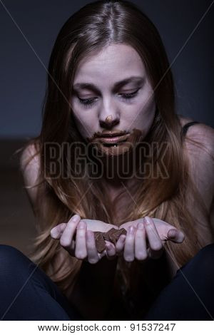 Woman Suffering From Bulimia