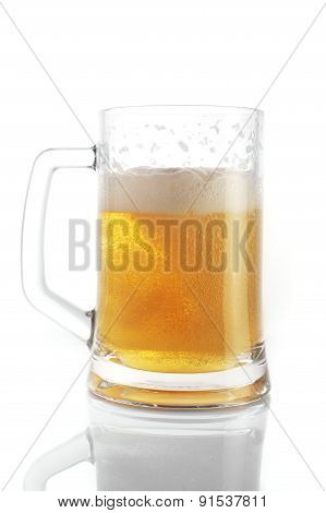 Beer In  Mug Close Up