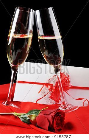 Champagne  And Letter