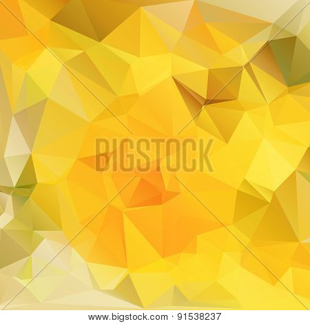 Background polygonal yellow