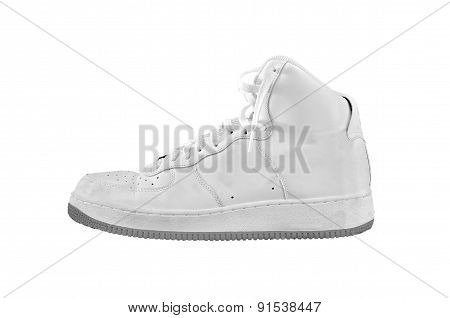 High-top Classic Basketball Shoe Sneaker Isolated