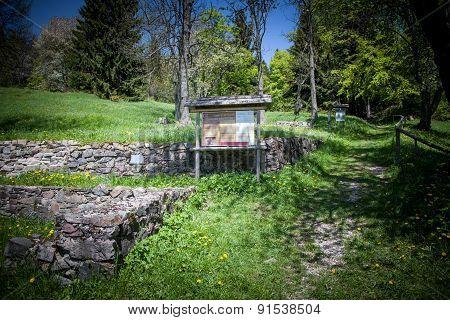 Ruins of village Kaliste, Slovakia