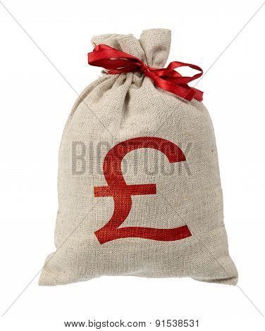 Money bag with red band