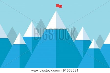 Flag on the peak