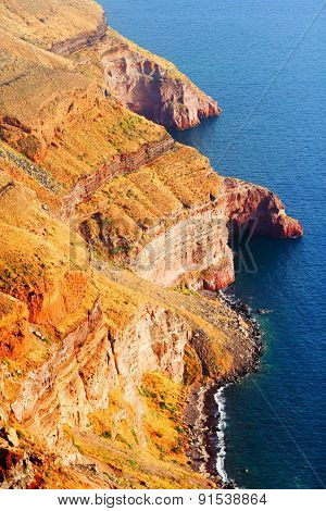 Cliffs Near Fira, Santorini