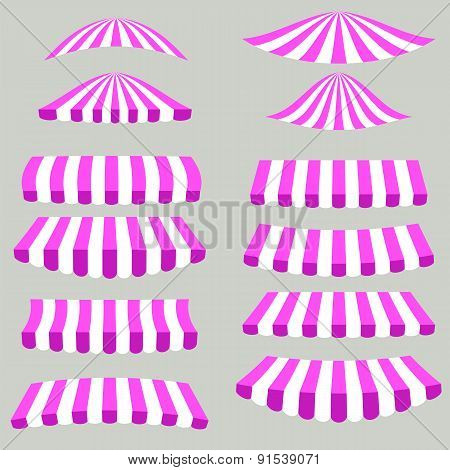 Pink White Tents