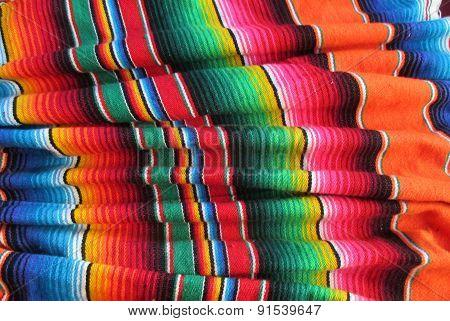 Mexican Handwoven Rug Fiesta serape
