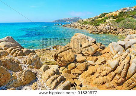 Yellow Rocks In Santa Reparata Beach