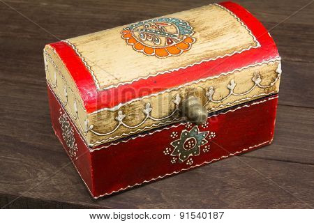 Colorful Wooden Jewel Box Ethnic Style