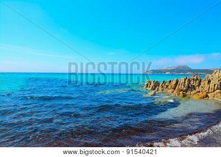 Rocks And Seaweeds In Santa Raparata Beach