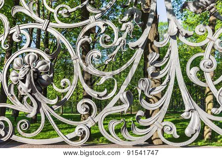 Fence Of The Mikhailovsky Garden In Saint Petersburg