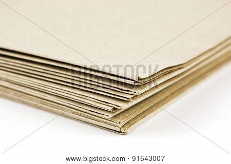Brown Parcel Paper Folder Up